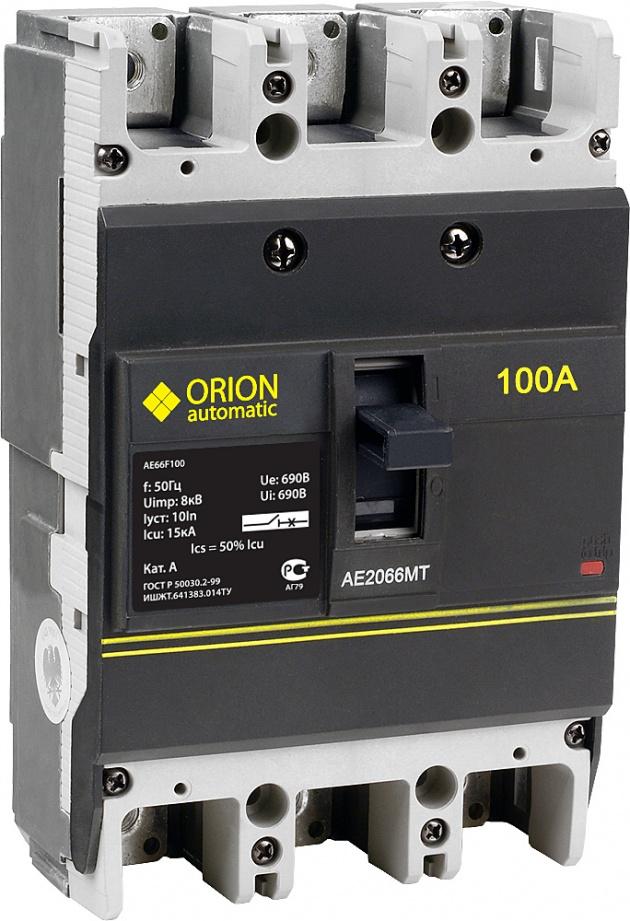 Автоматический выключатель АЕ 2066МТ 3п 100А 15кА AE66F100 Texenergo