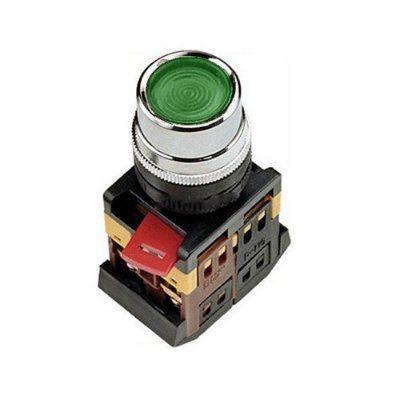 Кнопка ABLF-22 зеленый d22мм неон/240В 1з+1р ИЭК BBT10-ABLF-K06 IEK