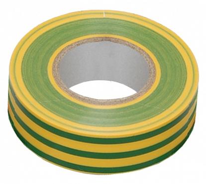 Изолента 0,13х15 мм желто-зеленая 20 метров ИЭК UIZ-13-10-K52 IEK