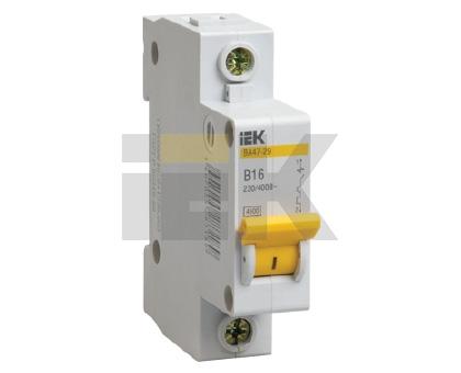 Автоматический выключатель ВА47-29М 1P 6A 4,5кА х-ка C IEK MVA21-1-006-C IEK