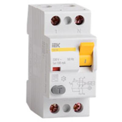 УЗО ВД1-63S 2п 50A/100мА S AC 0,63/6кА MDV12-2-050-100 IEK