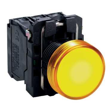 XB5 Лампа LED Жёлтая 220В AC XB5AVM5 Schneider Electric
