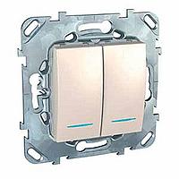 ДВУХКЛАВИШНЫЙ ПЕРЕКЛ. (СХ.6+6) С ИНД MGU5.0303.25NZD Schneider Electric