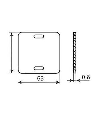 Бирка кабельная У134 У3.5 форма квадрат T134S Texenergo