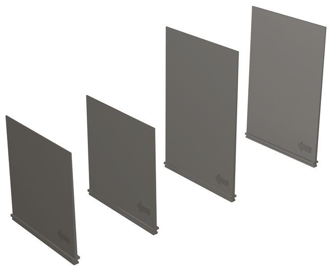 Перегородки межфазные разделительные PB100 T1-2-3 3p (комплект из 4шт.) 1SDA051427R1 ABB