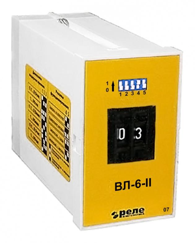 Реле времени ВЛ6-II 5А 24...220В переменного и постоянного тока A8222-76911427 Реле и автоматика
