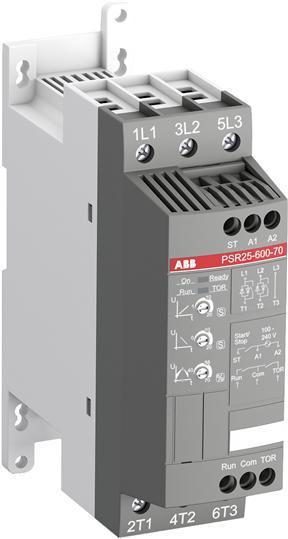 Софтстартер PSR25-600-70 11кВт 400В (100-240В AC) 1SFA896108R7000 ABB