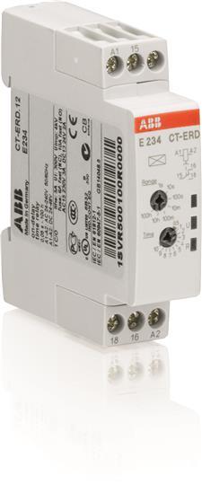 Реле времени CT-ERD.12 модульное (задержка на включ.) 24-48B DC, 24-240B AC (7 временных диапазонов 1SVR500100R0000 ABB