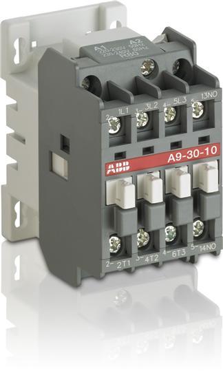 Контактор A9-30-10 (9А AC3) катушка 220В AC 1SBL141001R8010 ABB