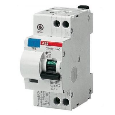 Дифавтомат DSH941R 1п+N 16A/30мА AC C 4,5кА 2CSR145001R1164 ABB