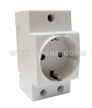 Розетка РАр 10-3-ОП на DIN-рейку MRD10-16 IEK