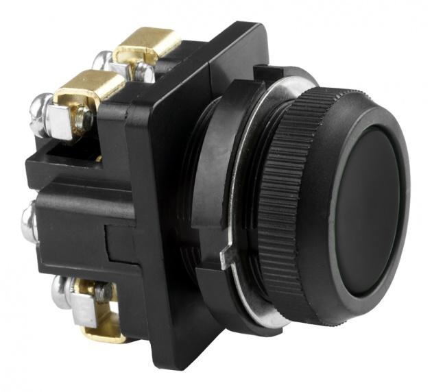 Выключатель кнопочный КЕ 011/1 черный 2 з B0112-20B Texenergo