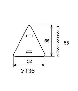 Бирка кабельная У136 У3.5 (треуг.)  Без производителя