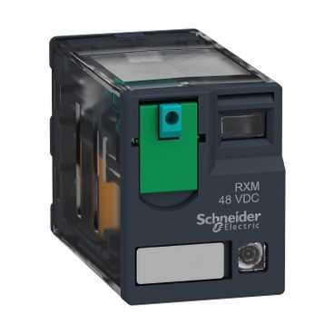 Реле промежуточное RXM, 2C/O, 6А, 24В DC с LED RXM4AB2BD Schneider Electric