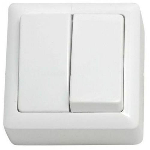 Выключатель 2 клавишный ХИТ О/У 6А 250В белый VA56-232-B Schneider Electric
