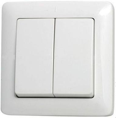 Выключатель 2 клавишный ХИТ С/У 6А 250В белый VS56-234-B Schneider Electric