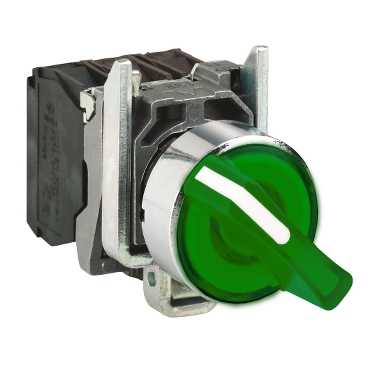 Переключатель 2-х позиционный 22мм 230-240В с подсветкой зеленый XB4BK123M5 Schneider Electric