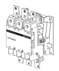 КОНТАКТОР ВАКУУМНЫЙ V 3P,610 A,230V 50/60 ГЦ, LC1V610P7 Schneider Electric