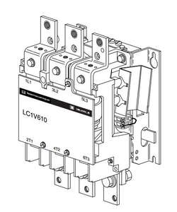 КОНТАКТОР ВАКУУМНЫЙ V 3P,610 A,400V 50/60 ГЦ, LC1V610V7 Schneider Electric