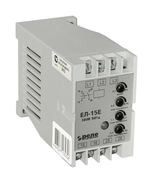 Реле контроля 3-фазной сети ЕЛ-15Е 190-456В 1NO+1NC 200046463 Реле и автоматика