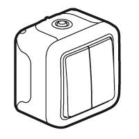 Двухклавишный переключатель на 2 направления - Программа Plexo - серый - 10 AX - 250 В 069715 Legrand