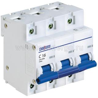 Автоматический выключатель ВА 67100 3п 16А С 10кА TAM310C016 Texenergo