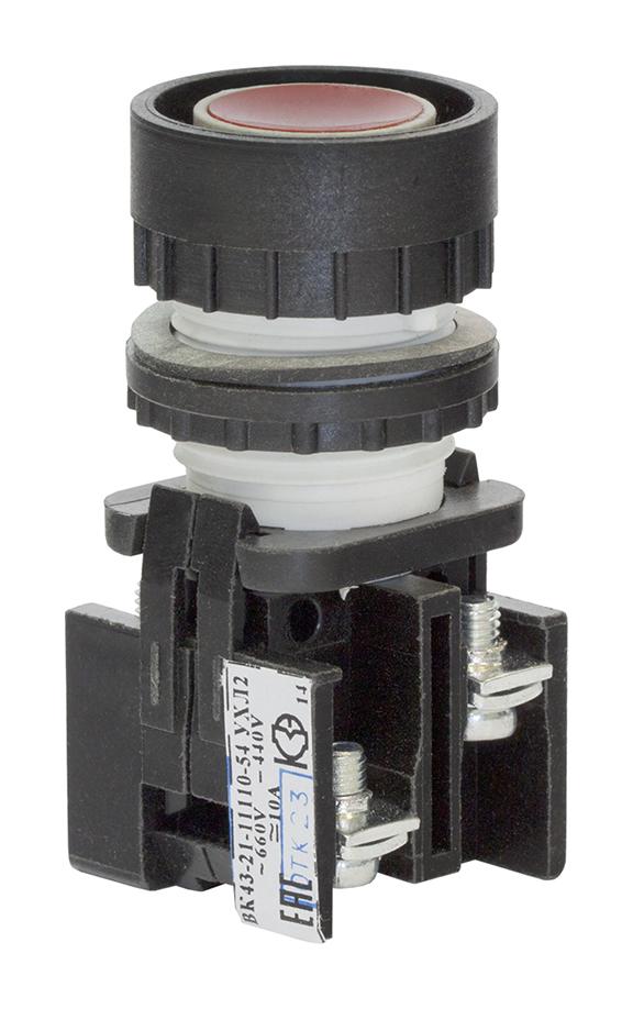 Выключатель кнопочный ВК 43-21-11110-54 УХЛ2, Красный 180111100ВК000000000 Кашинский Завод Электроаппаратуры