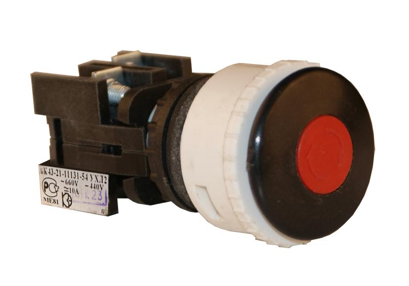 Выключатель кнопочный ВК 43-21-11131-54 УХЛ2, Черный 180111310ВЧ000000000 Кашинский Завод Электроаппаратуры