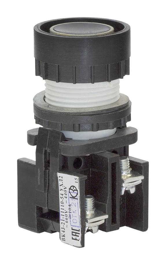 Выключатель кнопочный ВК 43-21-11110-54 УХЛ2, Черный 180111100ВЧ000000000 Кашинский Завод Электроаппаратуры