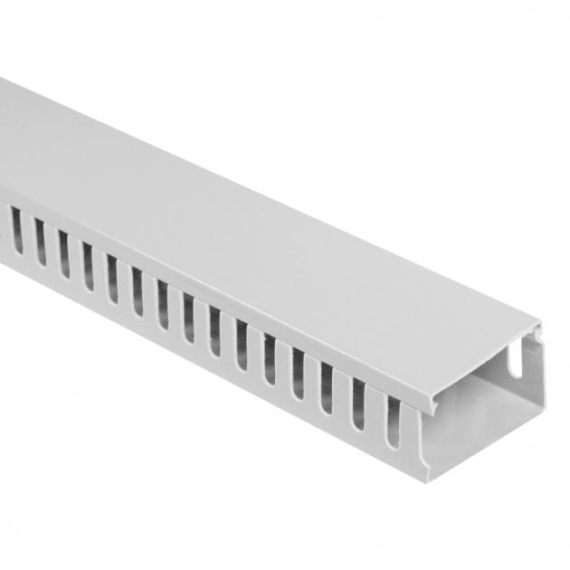 Кабель-канал перфорированный 60х40 (ПВХ-серый) CKKP060-040G Texenergo