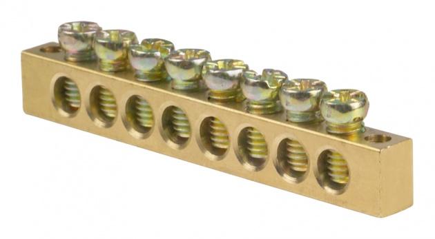 Шина нулевая 8/2 6х9 мм NN2-69-08 Texenergo