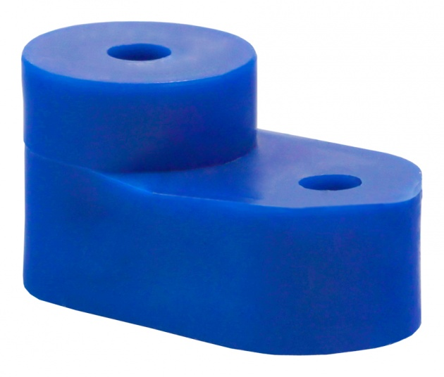 Угловой изолятор для шины нулевой (синий) GE60020-08 Texenergo