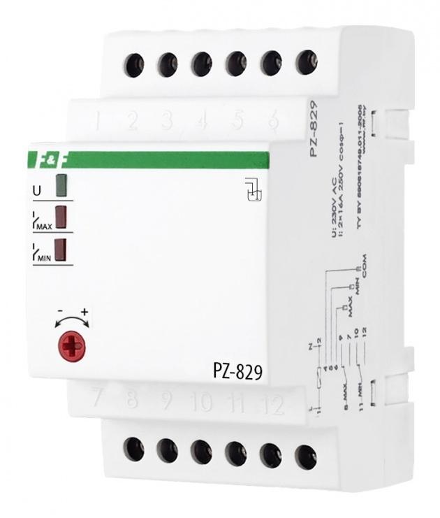 Реле контроля уровня жидкости PZ-829 230В 2х16А EA08.001.002 Евроавтоматика