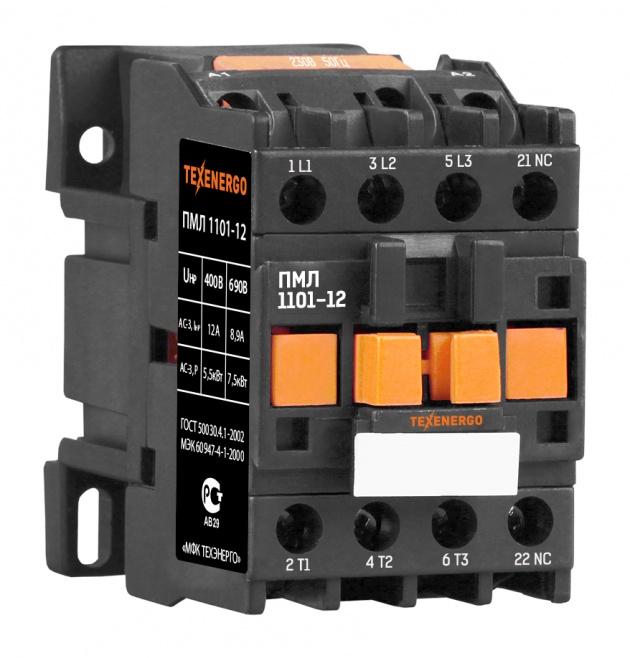 Пускатель электромагнитный ПМЛ 1101 220В 12А 1р PM1L1201M Texenergo