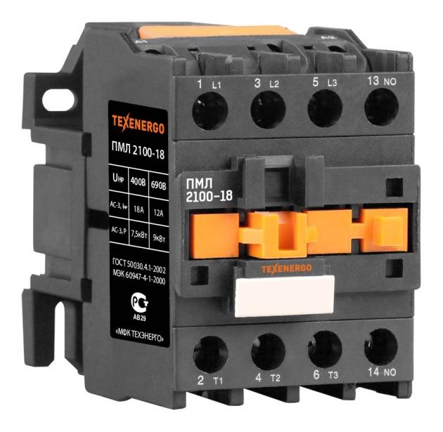 Пускатель электромагнитный ПМЛ 2100 220В 18А 1з PM1L1810M Texenergo