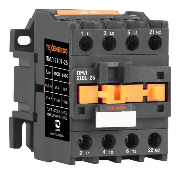 Пускатель электромагнитный ПМЛ 2101 220В 25А 1р PM1L2501M Texenergo