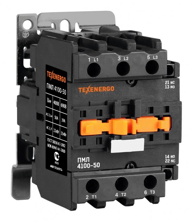 Пускатель электромагнитный ПМЛ 4100 220В 50А 1з+1р PM1L50M Texenergo