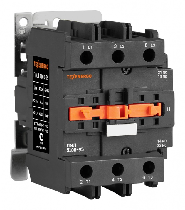 Пускатель электромагнитный ПМЛ 5100 380В 95А 1з+1р PM1L95Q Texenergo