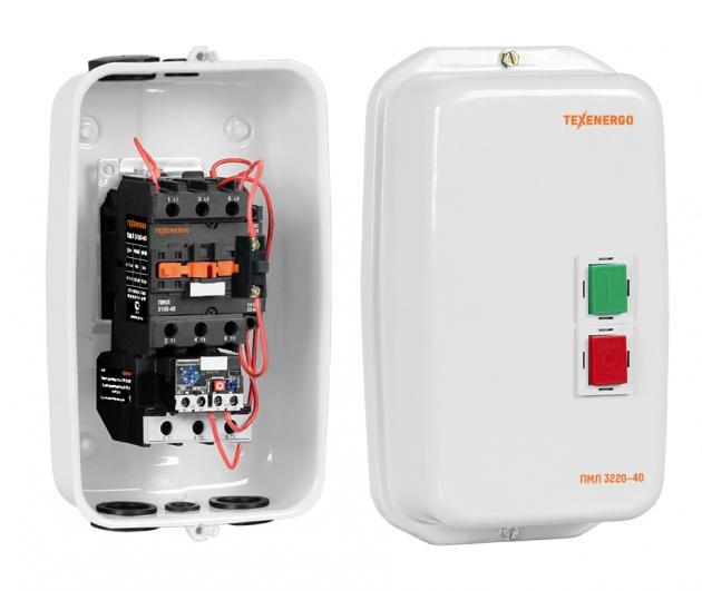 Пускатель электромагнитный ПМЛ 3220 220В РТЛ 2055-М2 (30-40А) IP 54 PM3L40MR55 Texenergo