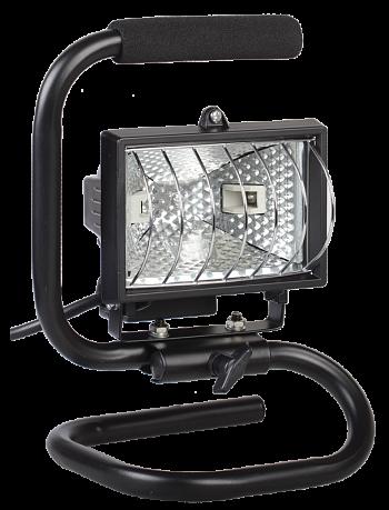 Прожектор ИО150П(переноска) галоген.черный IP54 ИЭК LPI03-1-0150-K02 IEK