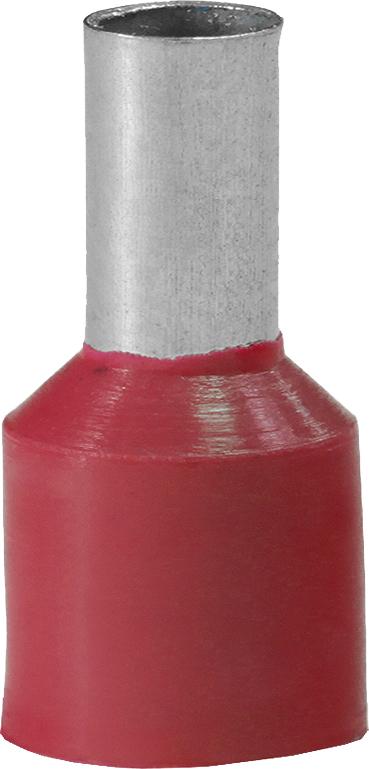 Наконечник штыревой втулочный изолированный НШвИ 10-12 (100 шт.) NSHV1000712 Texenergo
