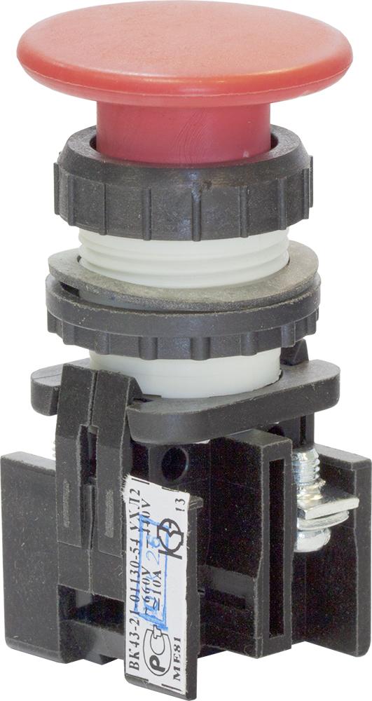 Выключатель кнопочный ВК 43-21-01130-54 УХЛ2, Красный 180011300ВК000000000 Кашинский Завод Электроаппаратуры