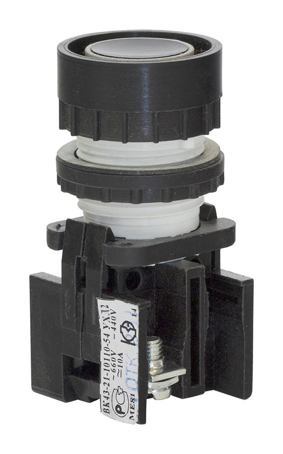 Выключатель кнопочный ВК 43-21-10110-54 УХЛ2, Черный КЗЭА 180101100ВЧ000000000 Кашинский Завод Электроаппаратуры
