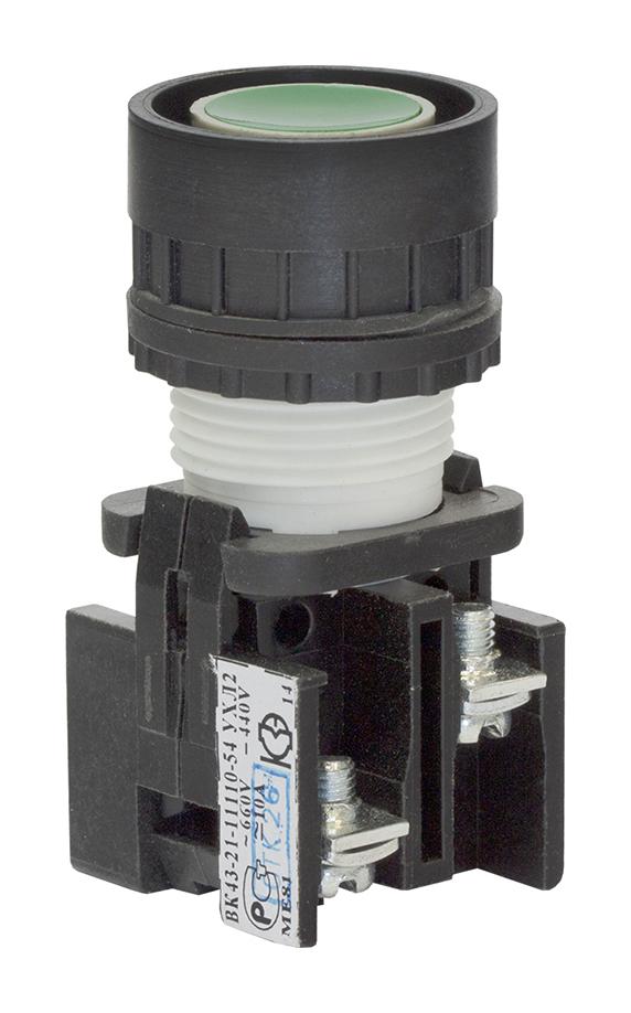 Выключатель кнопочный ВК 43-21-11110-54 УХЛ2, Зеленый 180111100ВЗ000000000 Кашинский Завод Электроаппаратуры