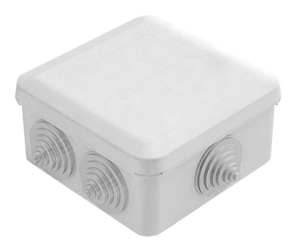 Коробка распаячная открытой установки 6 вводов 100х100х50 IP55 с крышкой GE41255 Tyco