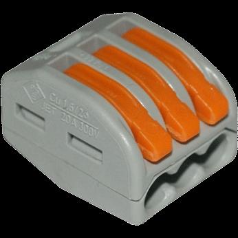 Клеммы Wago 222-413 (3Х2,5мм2 с рычажком) (упаковка 50шт.) 222-413 Wago