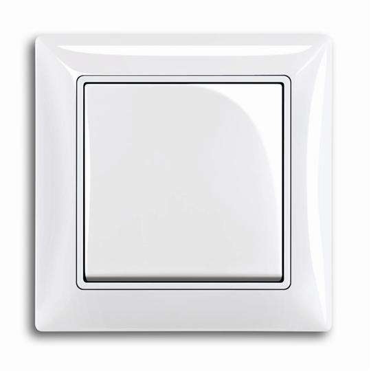 Рамка с декоративной накладкой, 1 пост, альпийский белый 1725-0-1479 ABB