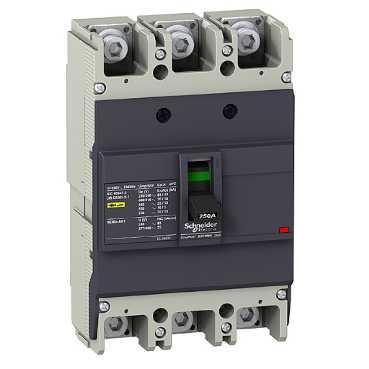 Автоматический выключатель EZC250N 36кA 3П3Т 250A EZC250H3250 Schneider Electric