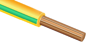 Провод монтажный ПугВ (ПВ-3) 16 желто-зеленый PV3I6 Россия