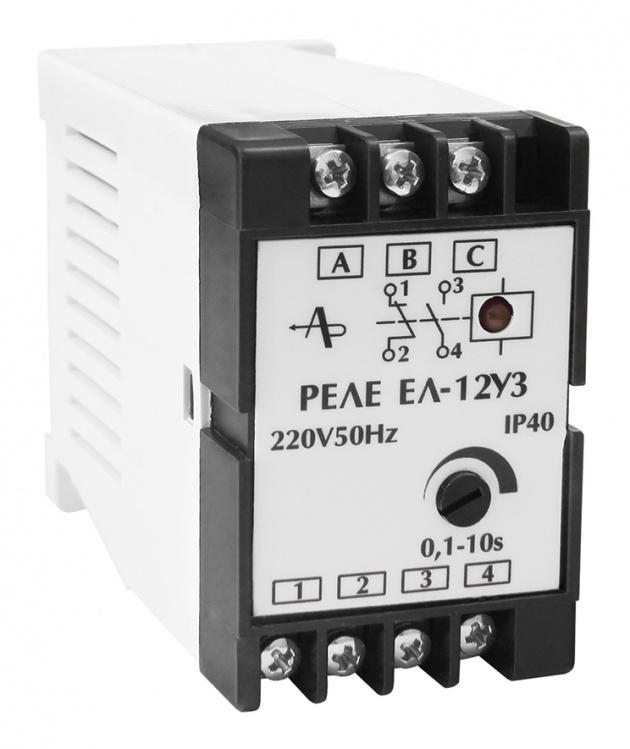 Реле контроля 3-фазной сети ЕЛ-12 323-422В 50Гц 1NO+1NC  Харьковский ЭМЗ